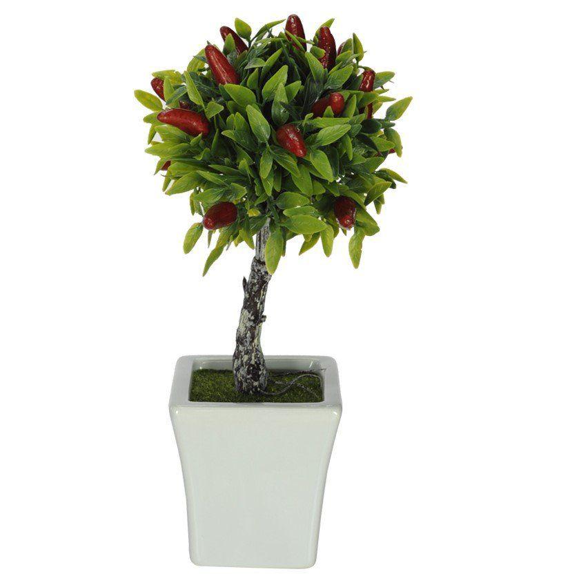 Pimenta Topiara artificial com vaso X12 24 cm - 28268001