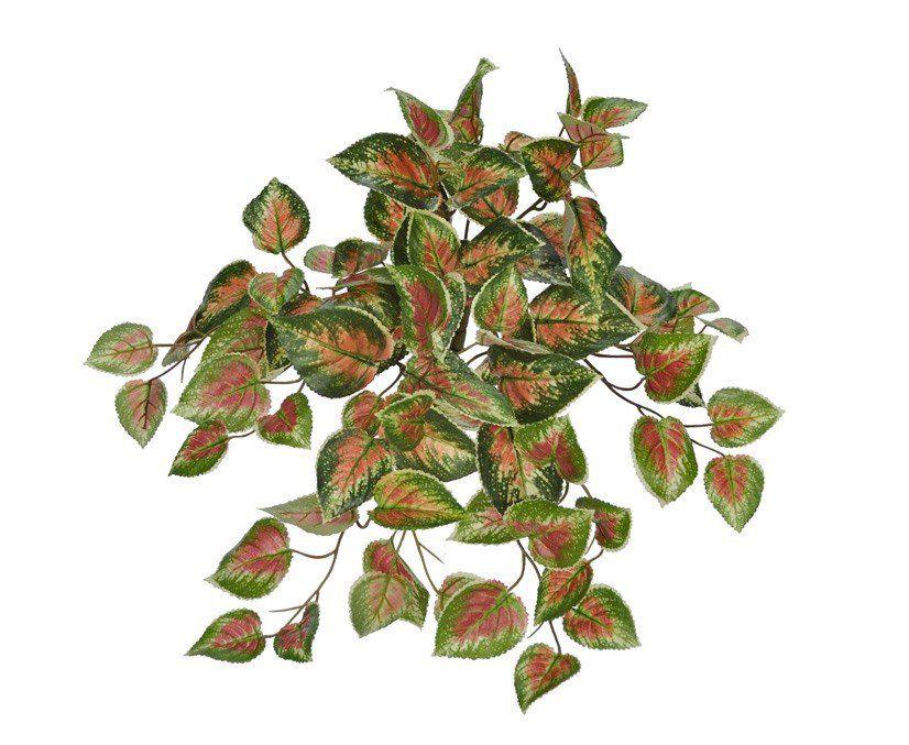 Planta Artificial Coleus com 91 Folhas Verde e Vermelho (26731001)