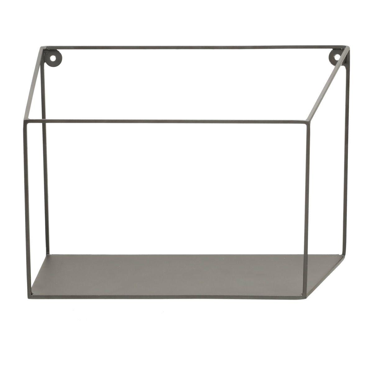 Prateleira de Metal Geométrica Preto 20cm x 28cm - 42638