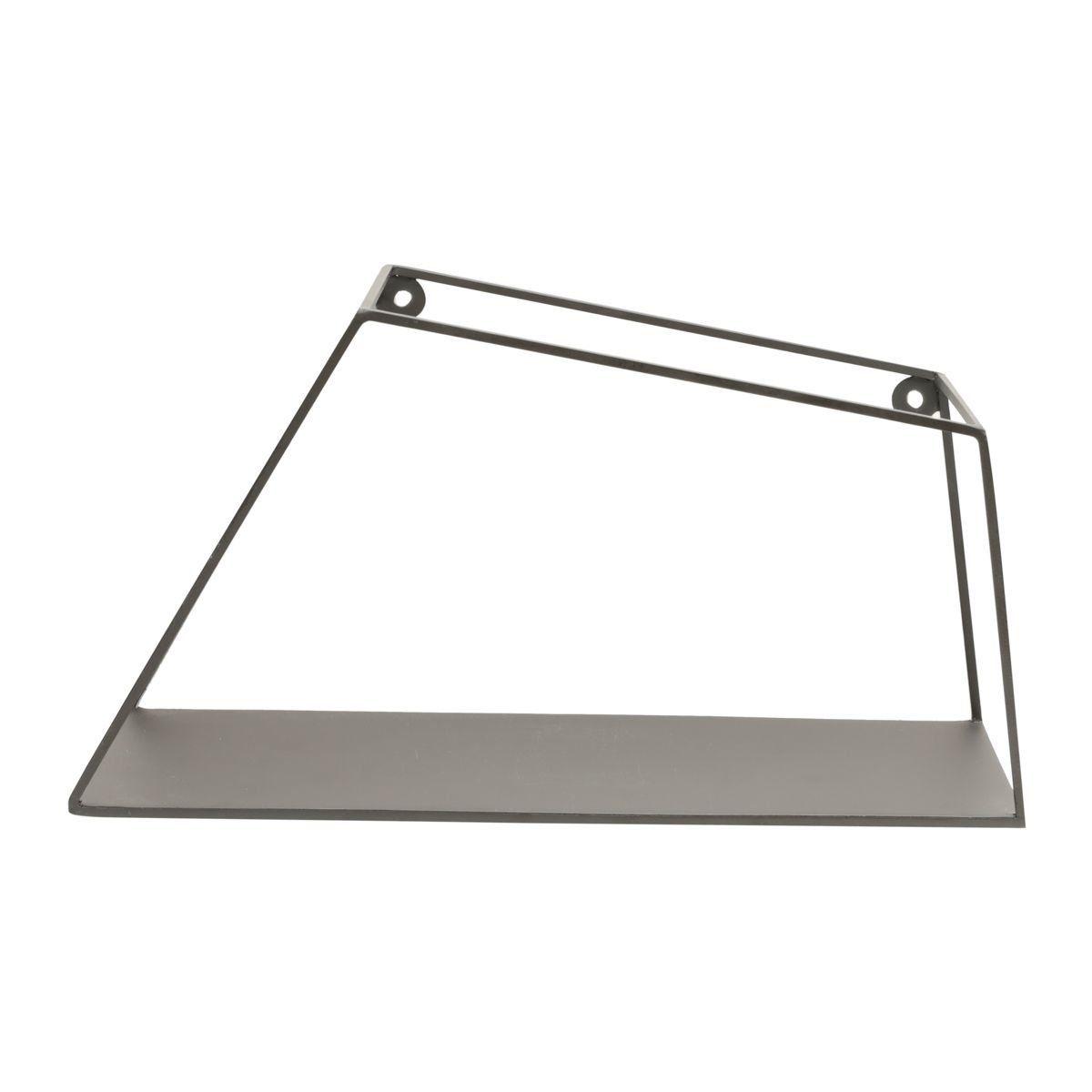 Prateleira de Metal Geométrica Trapézio Preto 14cm x 28cm - 42639