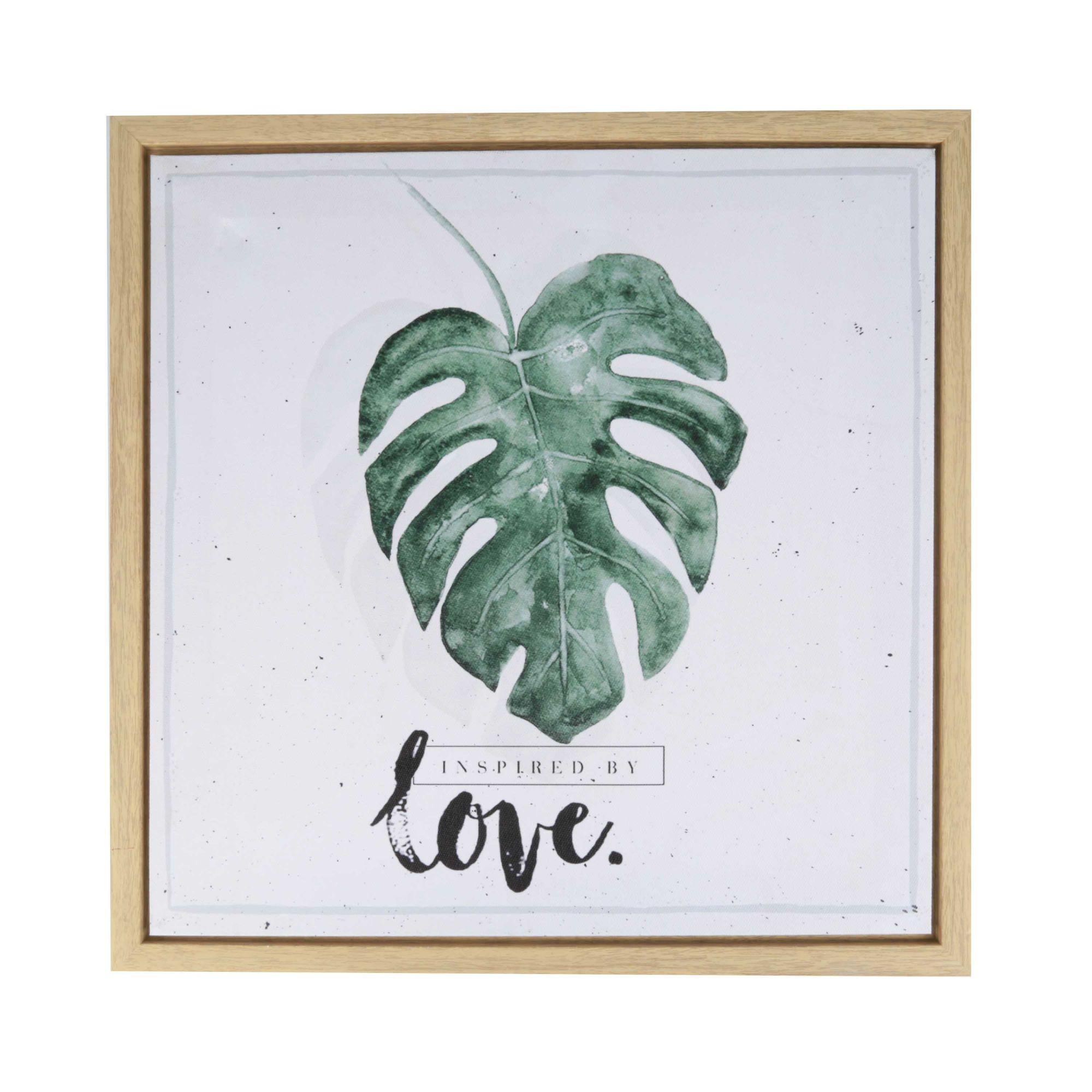 Quadro Decorativo com Moldura Leaves and Love 40cm x 40cm - 40257