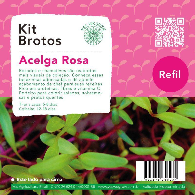 Refil para Kit Brotos Acelga Rosa