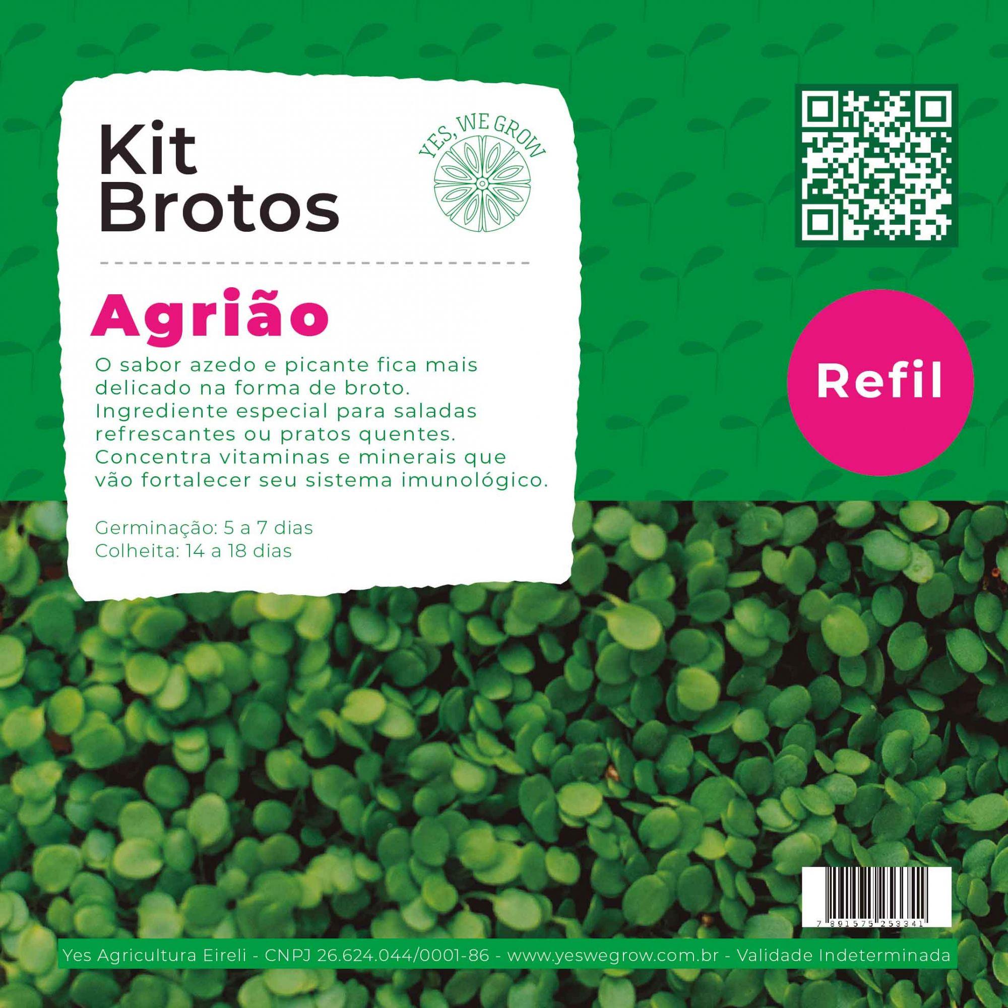 Refil para Kit Brotos Agrião