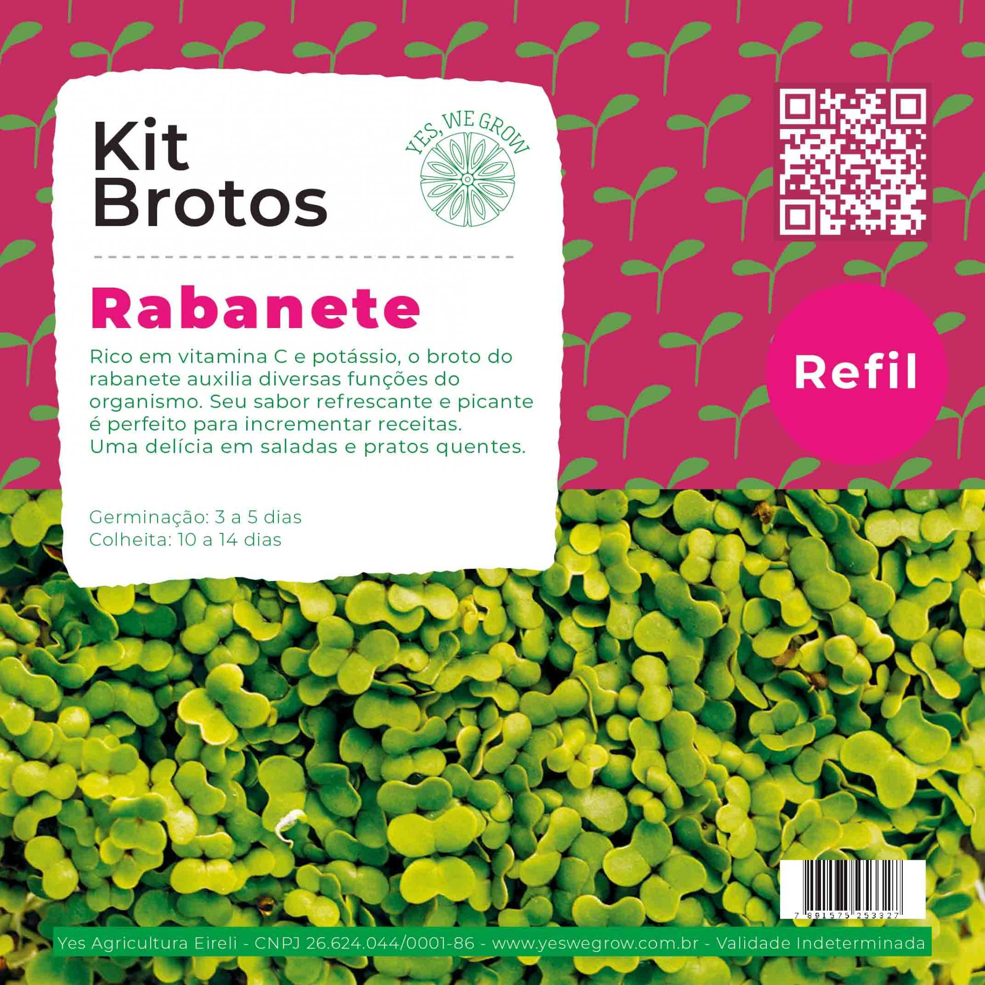 Refil para Kit Brotos Rabanete