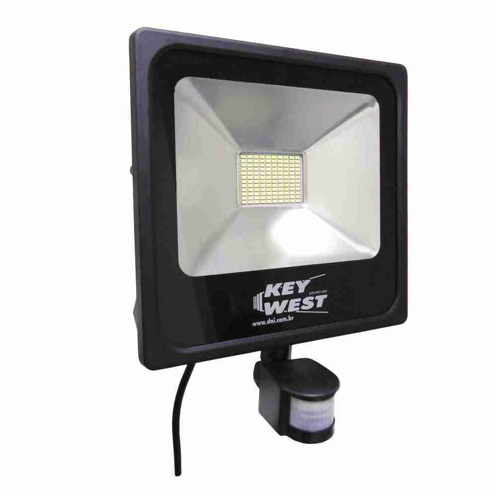 Refletor Holofote SMD Slim com sensor de presença 50W Bivolt - 6036