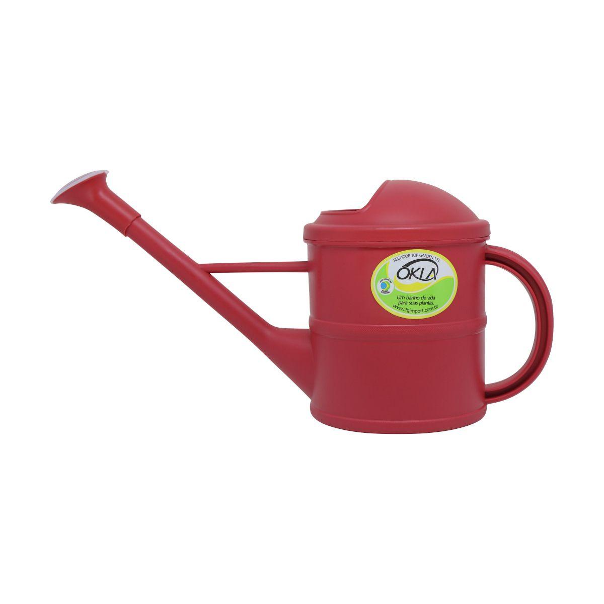 Regador 1,5 litro Vermelho Top Garden