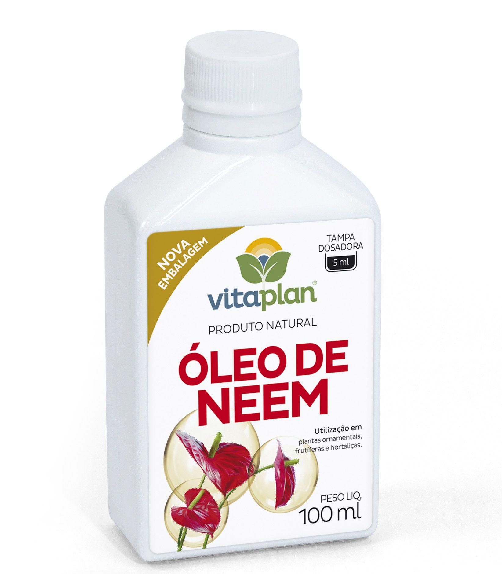 Repelente Óleo de Neem 100 ml concentrado - Faz 20 litros - Vitaplan