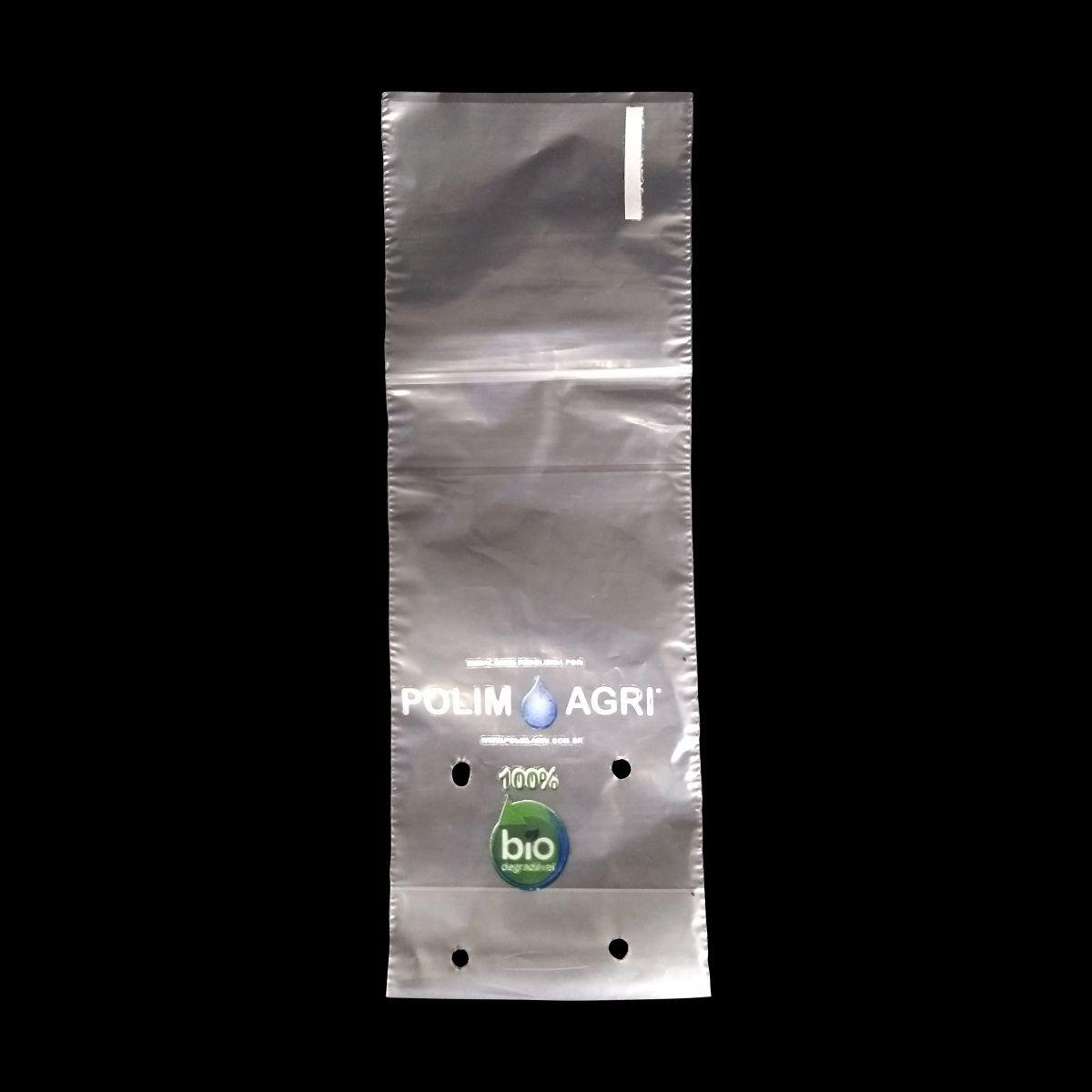 Saco Biodegradável para Mudas aproximadamente 8cm x 18cm Polim-Pote Bio kit com 100 unidades