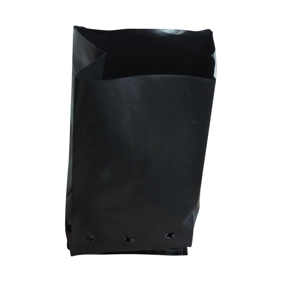 Saco para mudas aproximadamente 15cm x 20cm plástico preto para manga, maracujá ou cacau 100 unidades