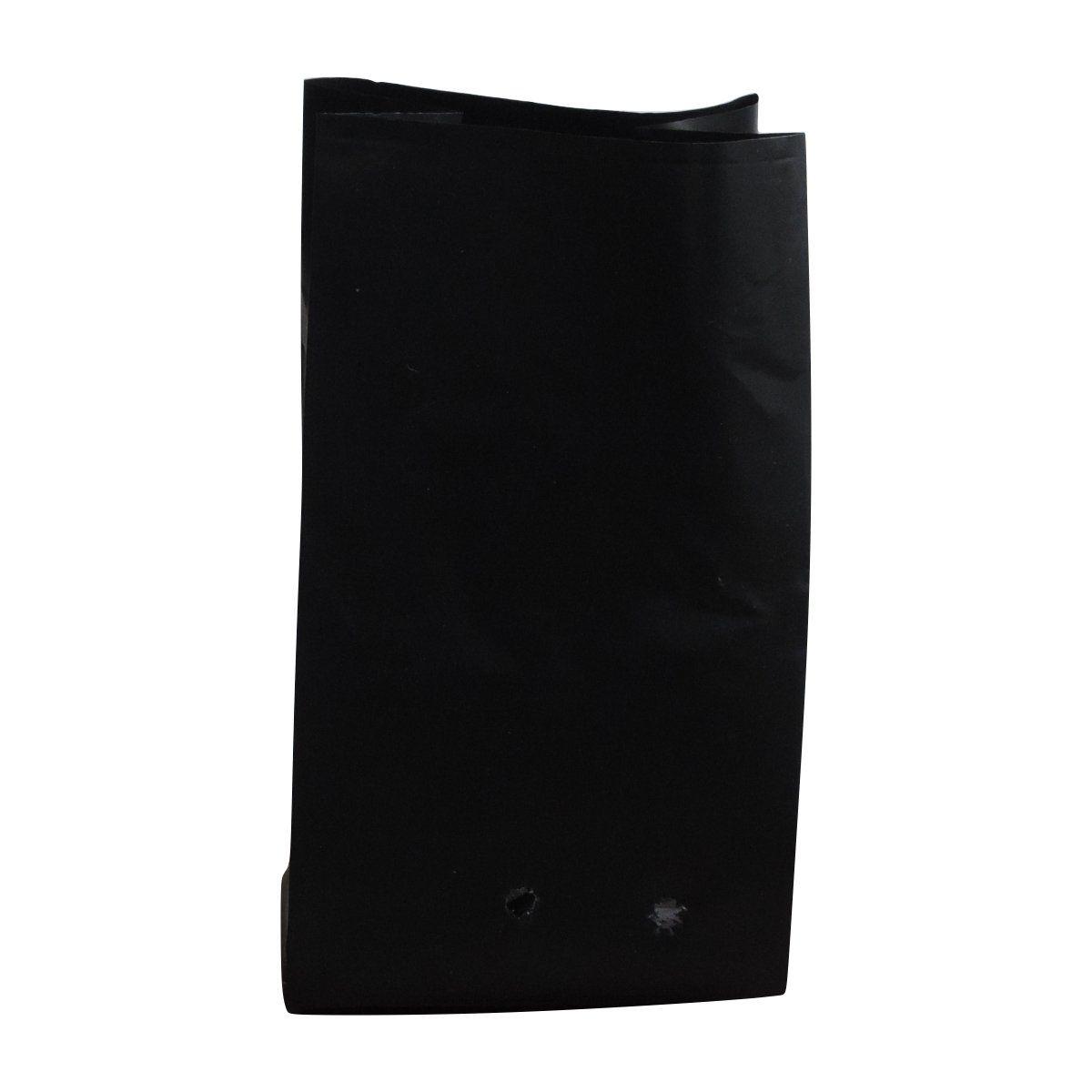 Saco para mudas aproximadamente 15cm x 28cm plástico preto para cacau 100 unidades