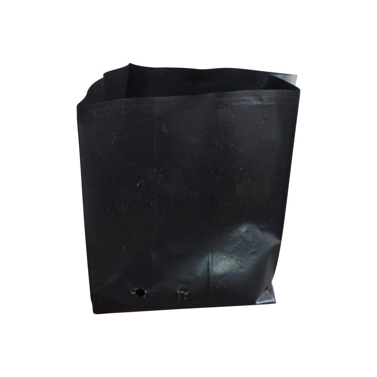 Saco para mudas aproximadamente 20cm x 20cm plástico preto para espécies ornamentais 100 unidades
