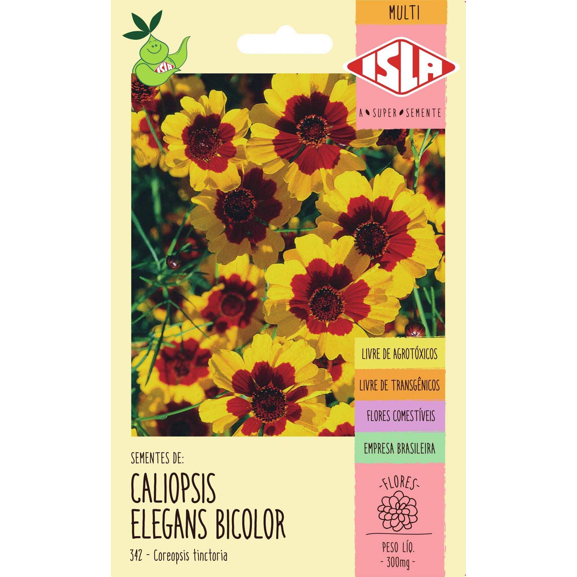 Semente de Caliopsis Elegans Bicolor - Isla Multi