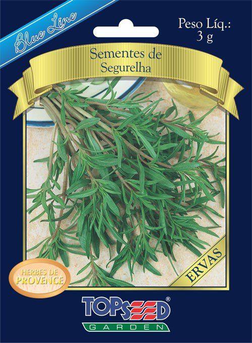 Sementes de Segurelha Satureja Hortensis Linha Blue Line - Topseed