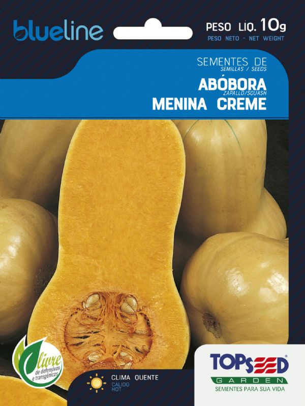 Sementes de Abóbora Menina Creme 10g - Topseed Blue Line