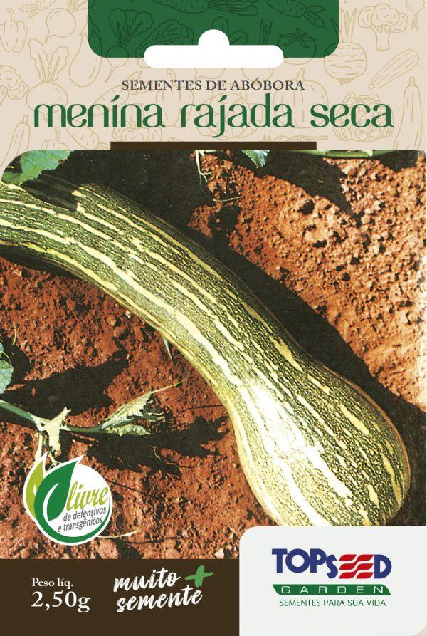 Sementes de Abóbora Menina Rajada Seca 2,5g - Topseed Linha Tradicional