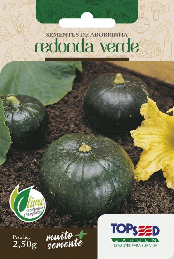 Sementes de Abobrinha Redonda Verde 2,5g - Topseed Linha Tradicional