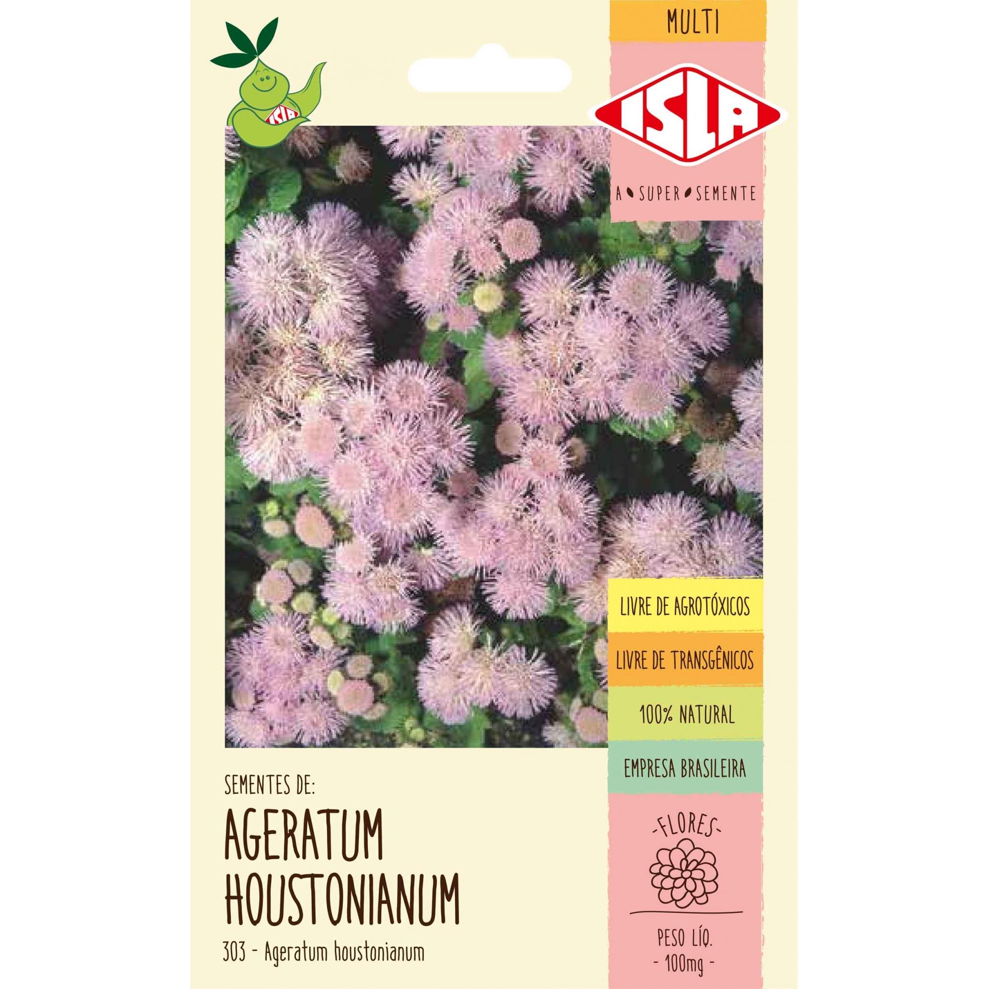 Sementes de Ageratum Mexicano Houstonianum 100mg - Isla Multi