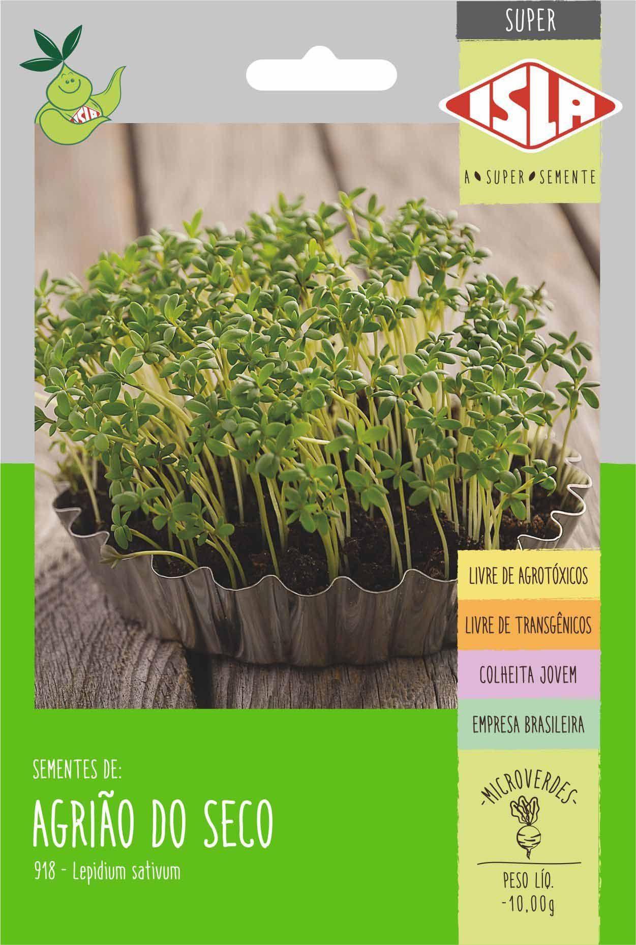 Sementes de Agrião Ravi do seco Microverdes 10g - Isla Superpak