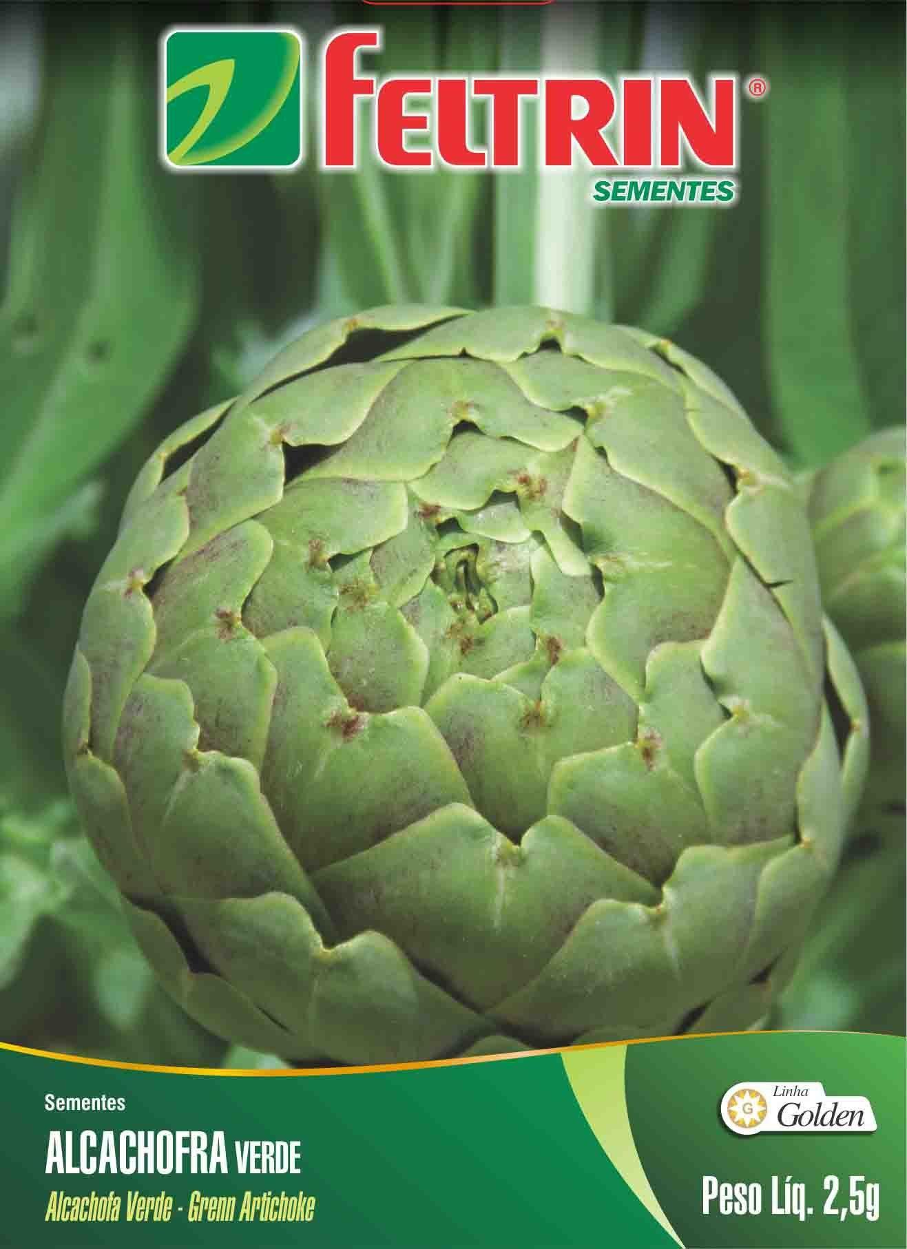 Sementes de Alcachofra Verde Redonda Melhorada - Feltrin Linha Golden