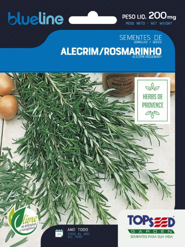 Sementes de Alecrim Rosmarinho 200mg - Topseed Blue Line