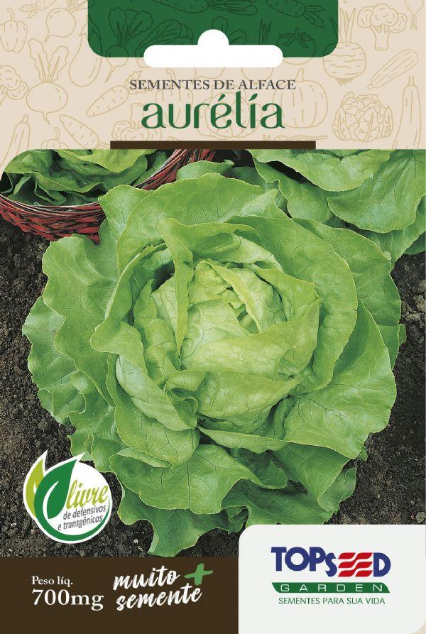 Sementes de Alface Aurélia (Manteiga) 700mg - Topseed Linha Tradicional