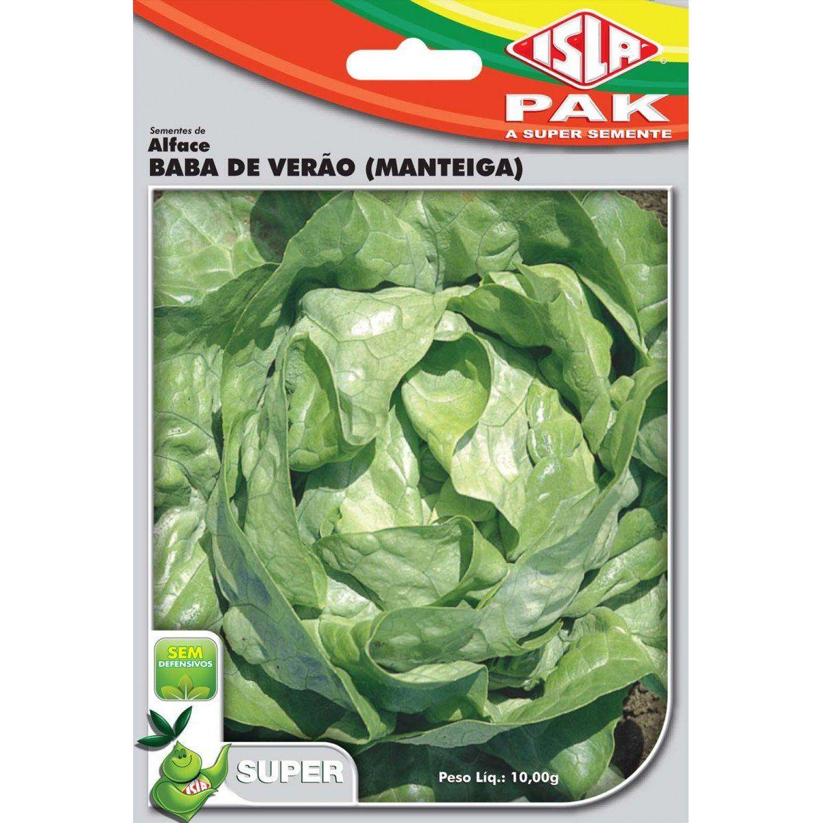 Sementes de Alface Baba de Verão (Manteiga) - Isla Superpak