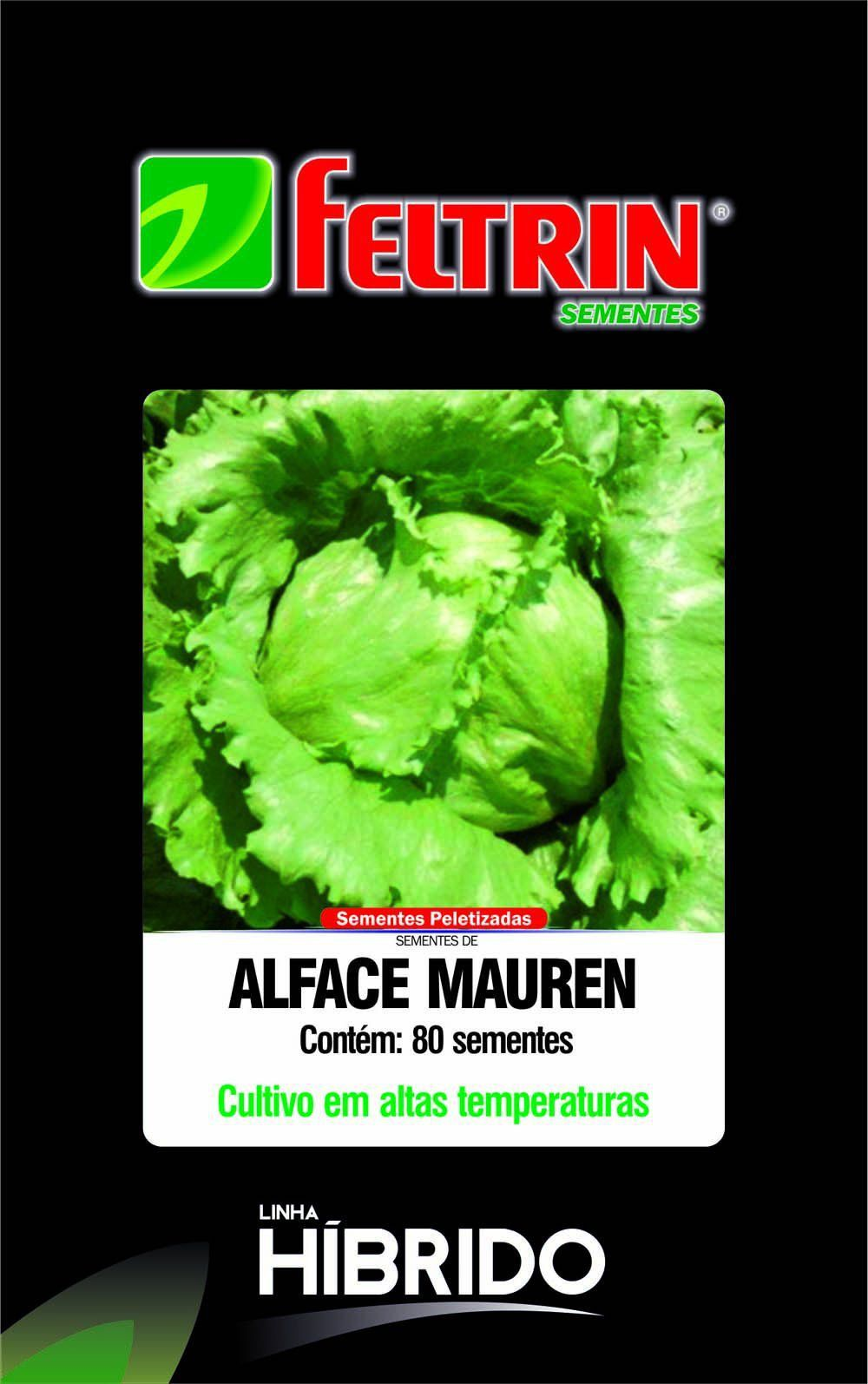 Sementes de Alface Mauren com 80 sementes - Feltrin Linha Híbrido