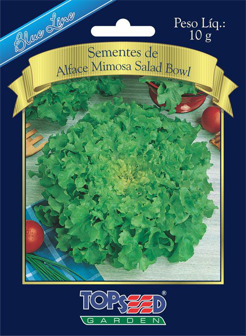 Sementes de Alface Mimosa Salad Bowl - Topseed Blue Line