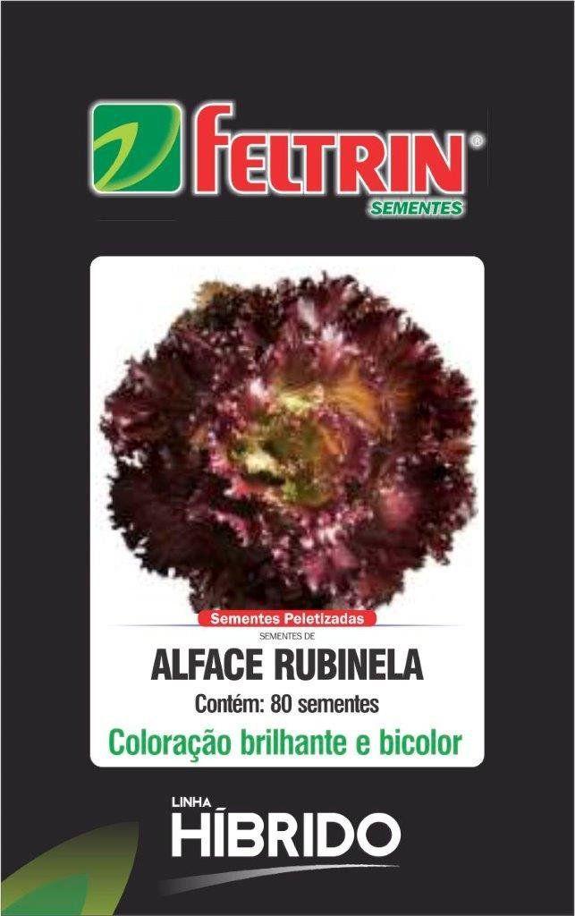 Sementes de Alface Rubinela com 80 sementes - Feltrin Linha Híbrido