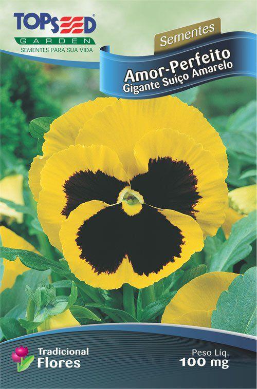 Sementes de Amor Perfeito Gigante Suiço Amarelo - Topseed