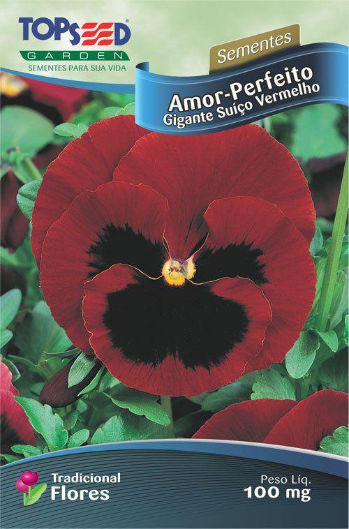 Sementes de Amor Perfeito Gigante Suiço Vermelho - Topseed
