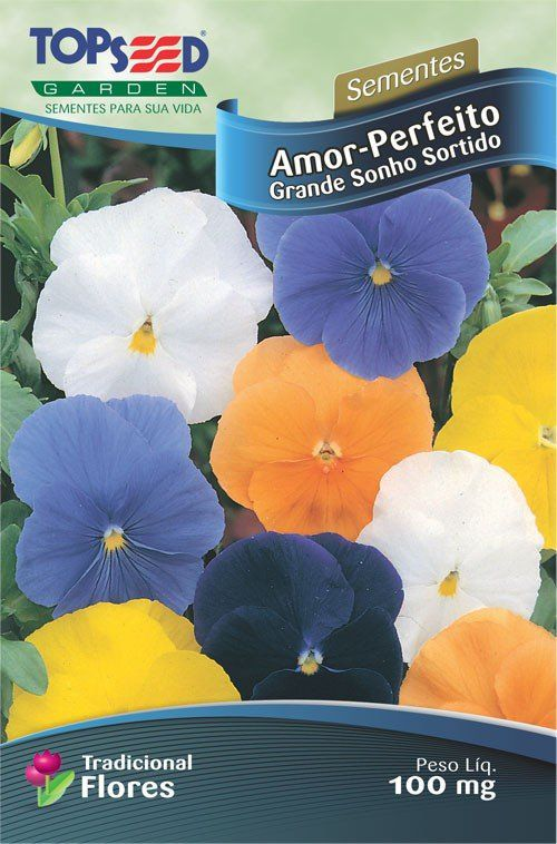 Sementes de Amor Perfeito Grande Sonho Sortido - Topseed Linha Tradicional Flores
