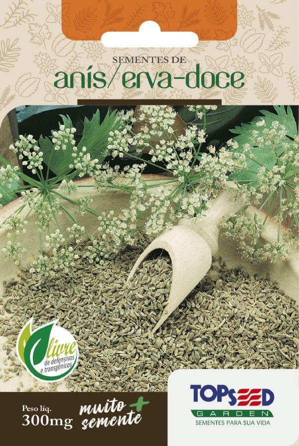 Sementes de Anis Erva-doce 300mg - Topseed Linha Tradicional