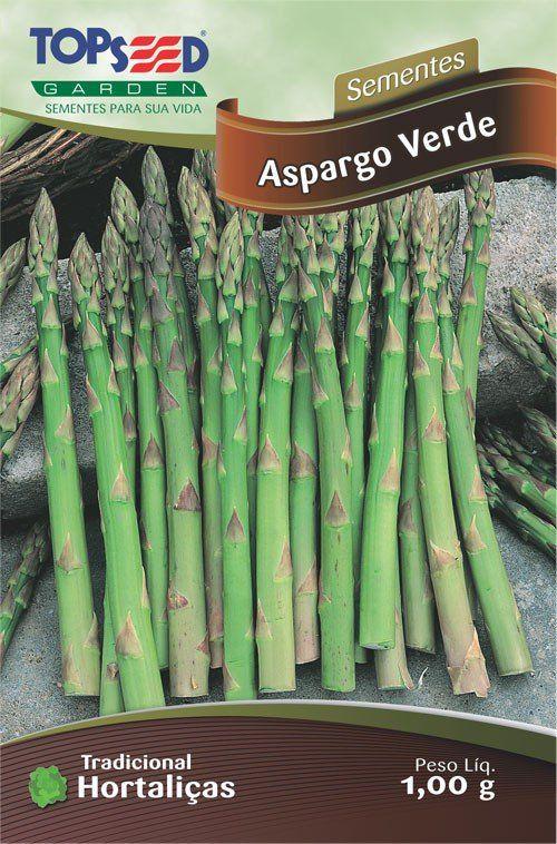 Sementes de Aspargo Verde Linha Tradicional Hortaliças - Topseed