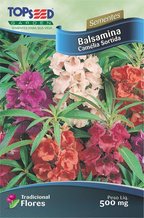 Sementes de Balsamina Camélia Sortida - Topseed Linha Tradicional Flores