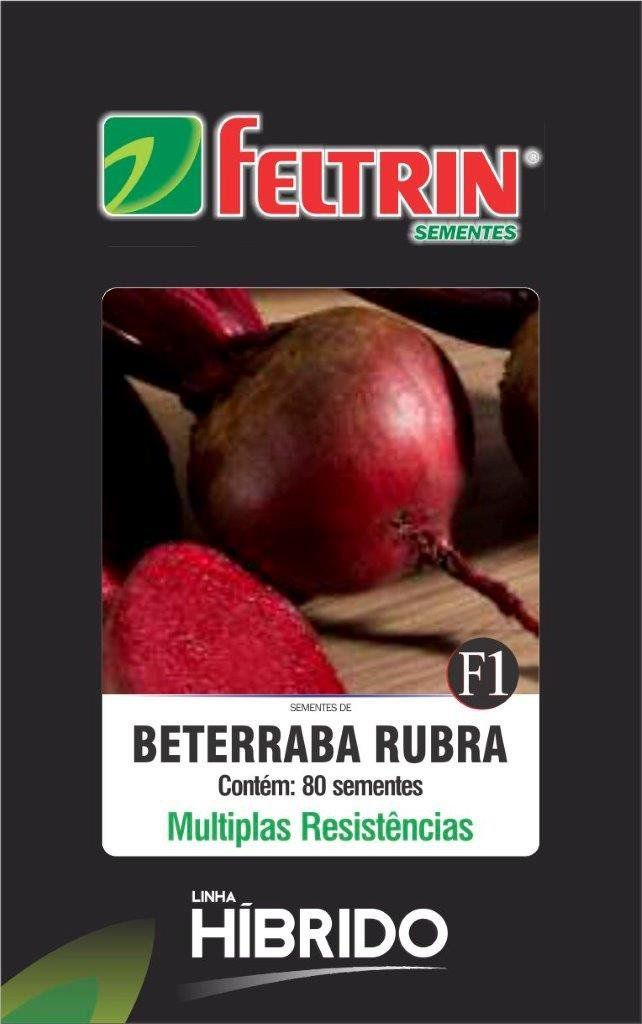 Sementes de Beterraba Rubra com 80 sementes - Feltrin Linha Híbrido