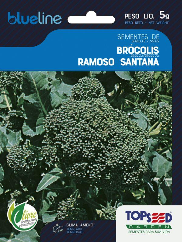 Sementes de Brócolis Ramoso Santana 5g - Topseed Blue Line