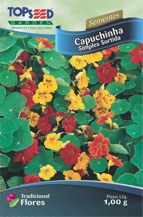 Sementes de Capuchinha Simples Sortida - Linha Tradicional Flores Topseed