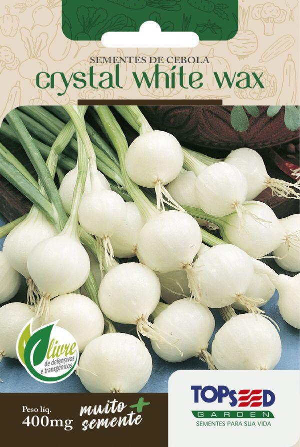 Sementes de Cebola Crystal White Wax (para conserva) 400mg - Topseed Linha Tradicional