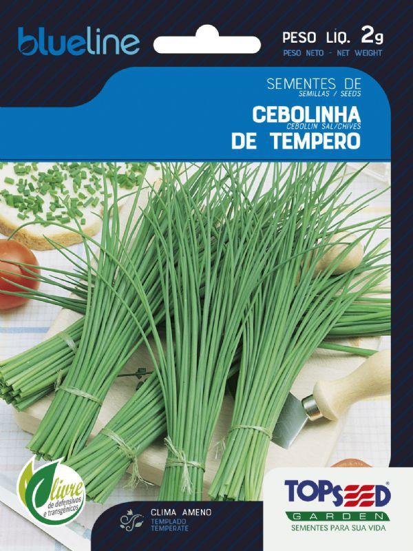 Sementes de Cebolinha de Tempero 2g - Topseed Blue Line