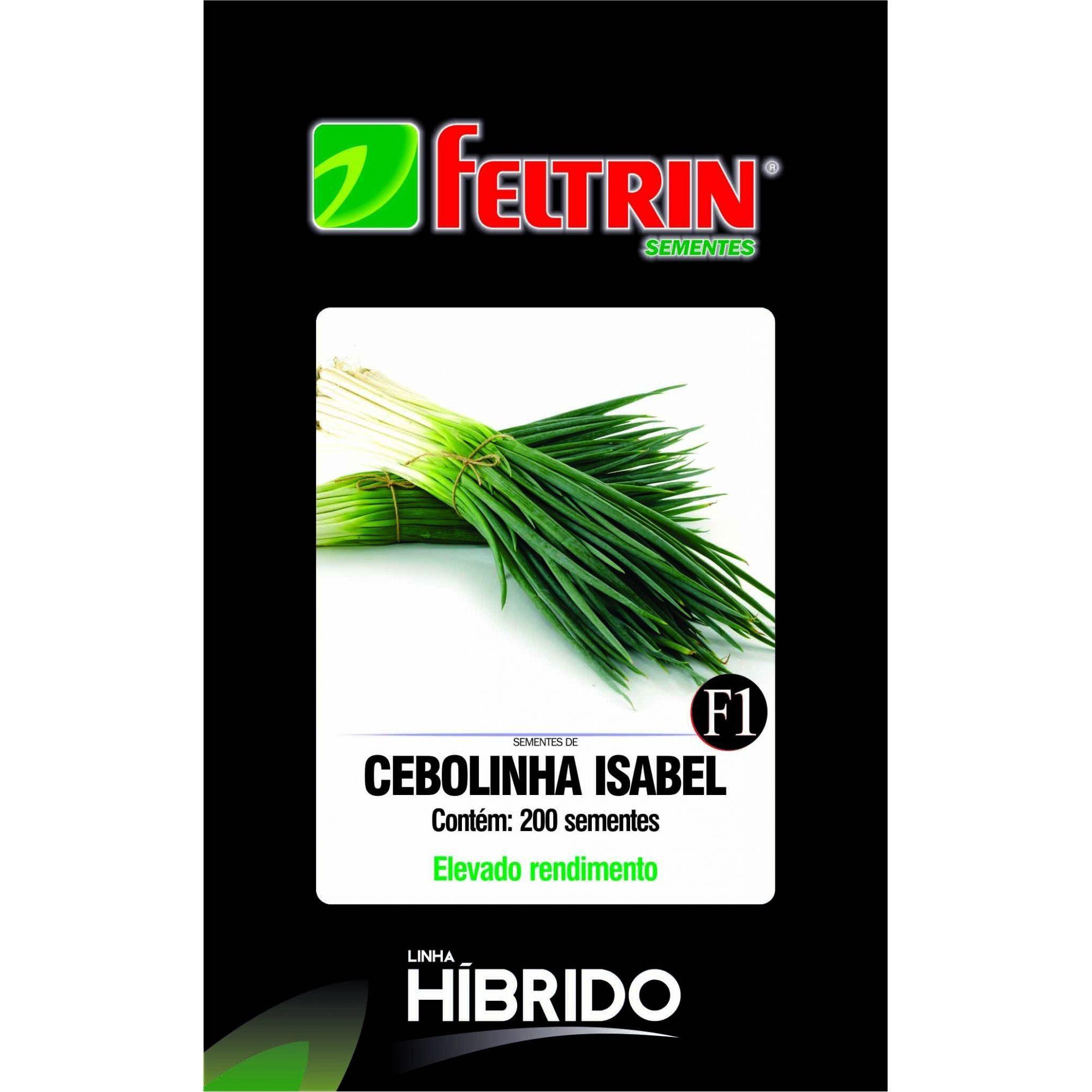 Sementes de Cebolinha Isabel com 200 sementes - Feltrin Linha Híbrido