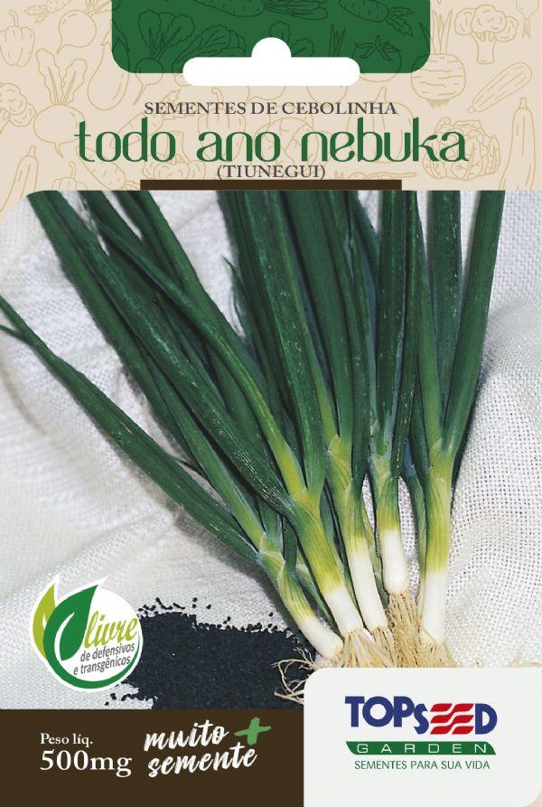 Sementes de Cebolinha Todo Ano Nebuka Tiunegui 500mg - Topseed Linha Tradicional