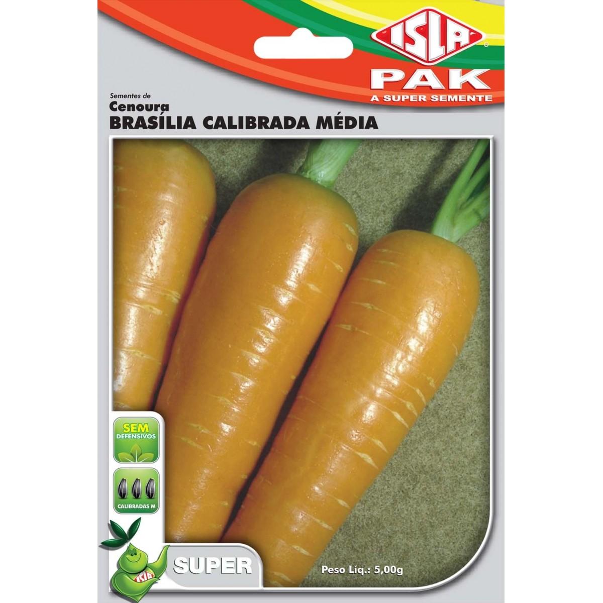 Sementes de Cenoura Brasília Calibrada Média - Isla Superpak