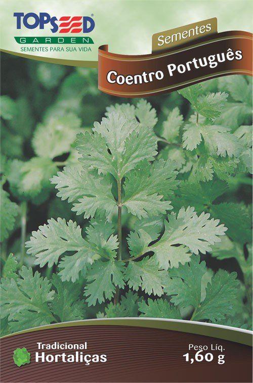 Sementes de Coentro Português Topseed Linha Tradicional Hortaliças 1,60g