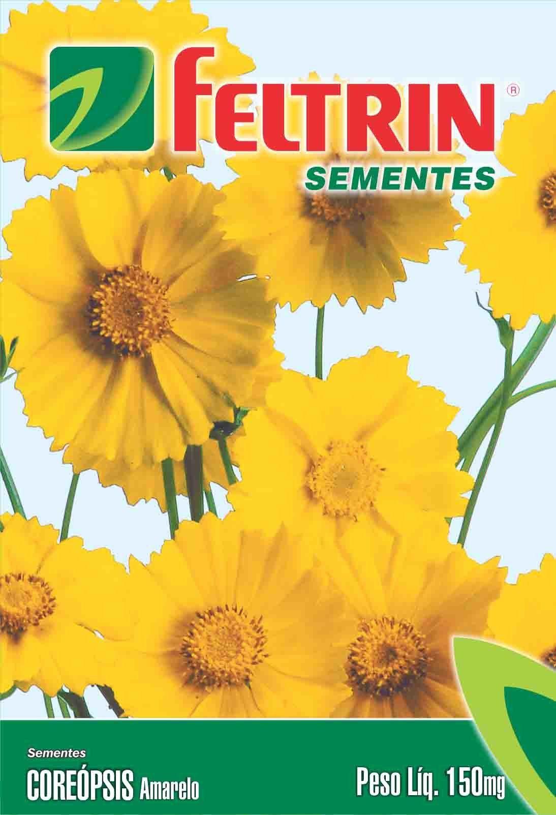 Sementes de Coreópsis Amarelo 150mg - Feltrin Linha Flores Econômica