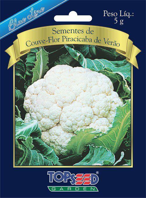Sementes de Couve Flor Piracicaba de Verão 5g - Topseed Blue Line