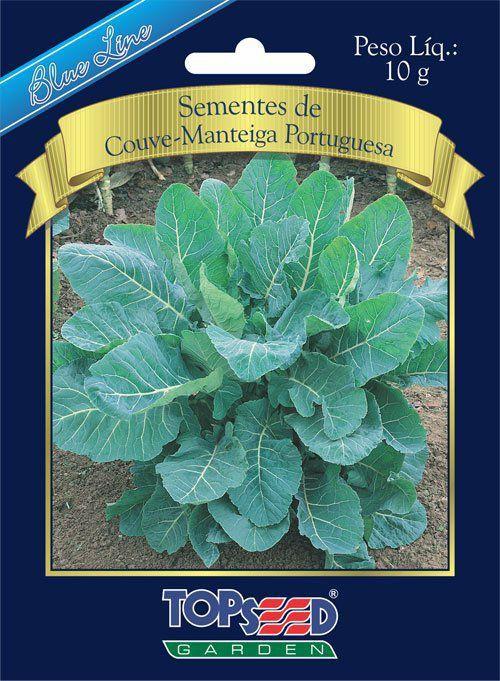 Sementes de Couve Manteiga Portuguesa 10g - Topseed Blue Line