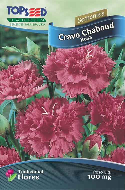 Sementes de Cravo Chabaud Rosa 100mg - Topseed Linha Tradicional Flores