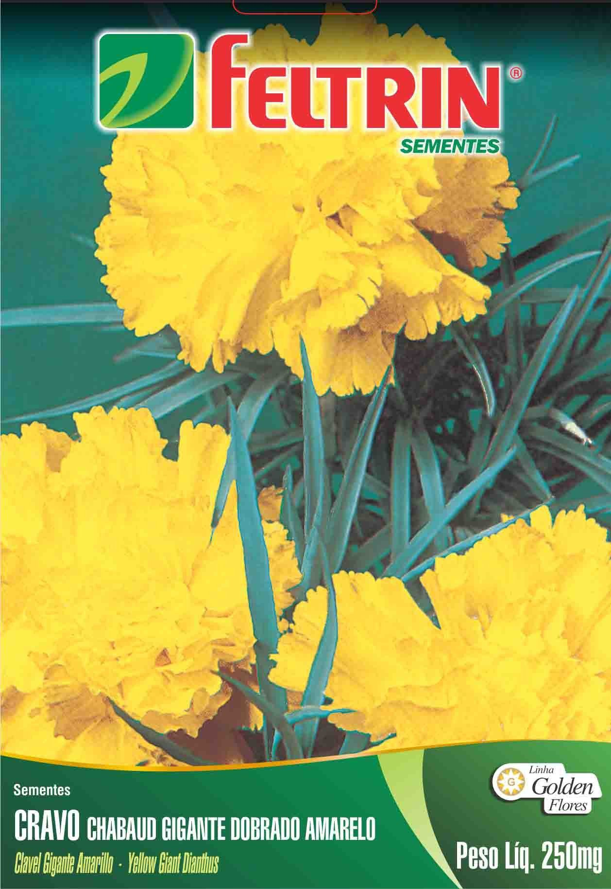Sementes de Cravo Gigante Chabaud Amarelo - Feltrin Linha Golden