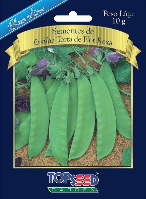 Sementes de Ervilha Torta de Flor Roxa 10g - Topseed Blue Line